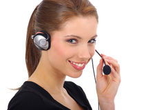 CALL CENTER AGENT Stock Image