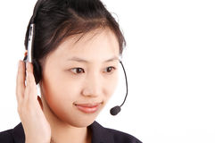 Call center agent Stock Photography
