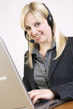 Call Center Agent. At work Royalty Free Stock Images