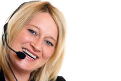 Call Center Agent. Express happiness Stock Photography