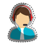 Call center agent character Royalty Free Stock Photos
