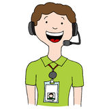 Call Center Agent Lanyard Stock Photography