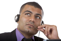 Free Call Center Agent Looks Contemplative Stock Photos - 11415963