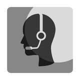 Call center agent service icon Stock Photography