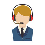 Call center agent service icon Stock Photos