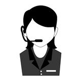 Call center agent service icon Royalty Free Stock Photography