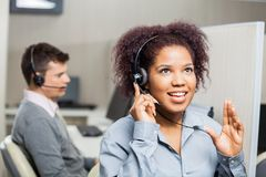 Call Center Agent Speaking With Costumer Stock Photos
