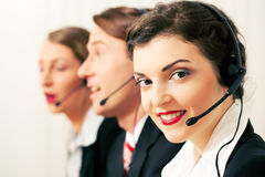 Call center agents Royalty Free Stock Photo