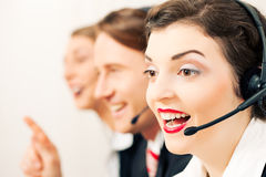 Call center agents Royalty Free Stock Photography
