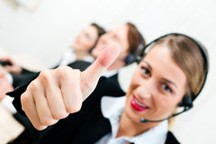 Call center agents Royalty Free Stock Photos