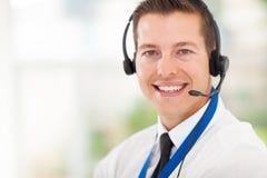 Call-Center-Angestellter stockfotos
