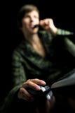 Call-Center-Angestellter lizenzfreies stockbild