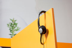 Call-Center-Arbeitsplatz Stockfotos