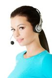 Call center assistant smiling Stock Photography