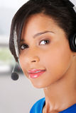Call center assistant smiling Royalty Free Stock Photos