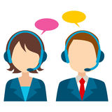 Call Center Avatar Royalty Free Stock Photos