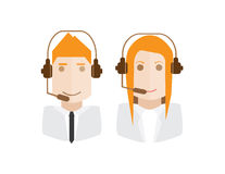 Call center avatars set Royalty Free Stock Images