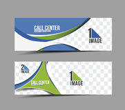 Call Center Banner Stock Photo