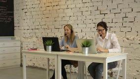 Call-Center-Betreiber stock video