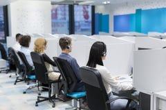 Call-Center-Betreiber Stockfotos