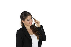 Call center business woman Royalty Free Stock Photography