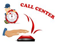 Call center, cdr vector Stock Photo