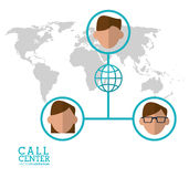 Call center character global world connection. Illustration eps 10 Stock Photos
