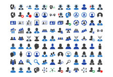 Call Center Clients Flat Icons. Call Center Clients flat vector icon collection. An icons on a white background vector illustration