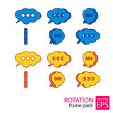Call center cloud rotating icon set of frames Royalty Free Stock Image