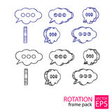 Call center cloud rotating icon set of frames Stock Photography