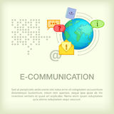 Call center concept globe, cartoon style Stock Images