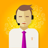 Call center crm customer relationship management Royalty Free Stock Photo