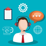 Call center and customer service Royalty Free Stock Images