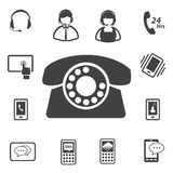 Call center customer service icon set Stock Image