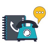 Call center and customer service. Telephone and address book vector illustration graphic design vector illustration graphic design vector illustration