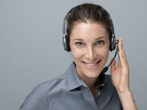 Call center and customer support operator Royalty Free Stock Images