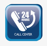 Call center design. Illustration eps10 graphic Royalty Free Stock Image