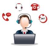 Call center design Stock Photography