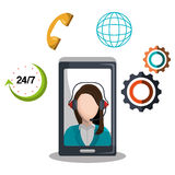 Call center design Royalty Free Stock Image