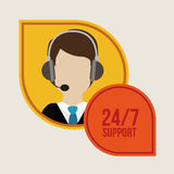 Call center design Royalty Free Stock Images