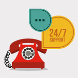 Call center design Royalty Free Stock Photos