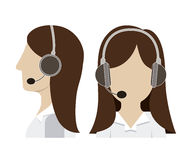 Call center design Royalty Free Stock Photography
