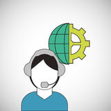 Call center design. telemarketing icon. support concept Stock Photos