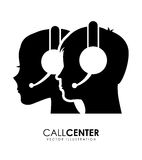 Call center. Design, vector illustration eps10 graphic Royalty Free Stock Photography