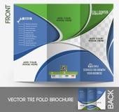 Call-Center-dreifachgefaltete Broschüre Stockbilder