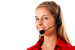 Call center employee Stock Image