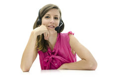Call center employee Stock Photography