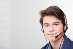 Call center employee Stock Photo