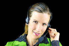 Call center employee Royalty Free Stock Photo