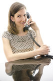 Call center employee speaking with a customer Stock Photography